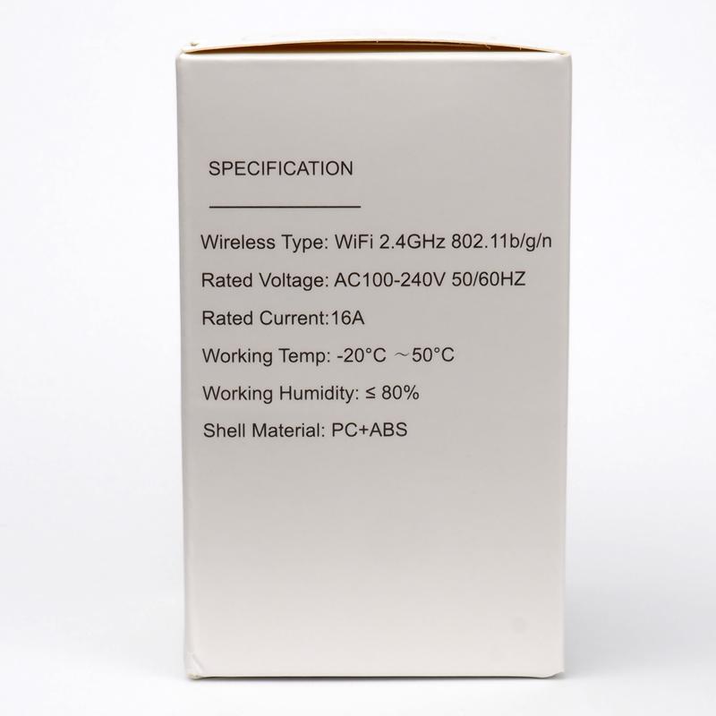 Тех параметры Tuya Smart power plug